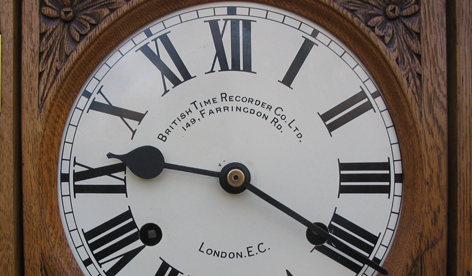 British Time Recorders Dial