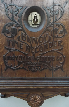 Bundy Clock Engraving